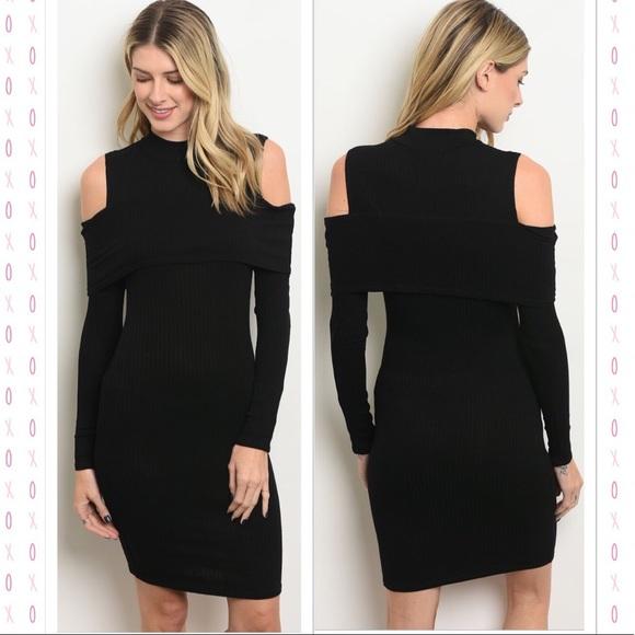 Dresses Beautiful Cold Shoulder Black Dress Poshmark